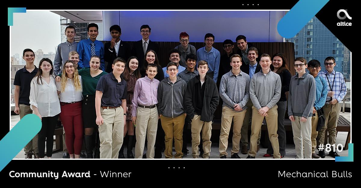 Ganadores del premio Altice Future Innovator Award 2020 - Ganador del premio Community Award