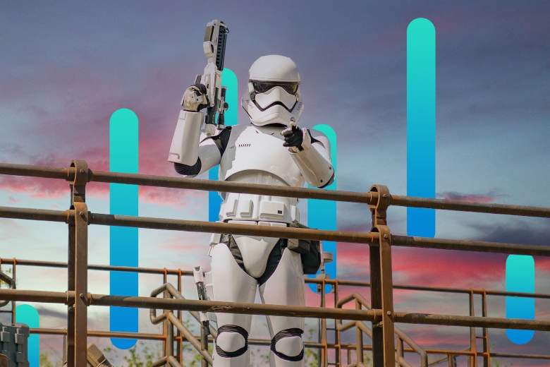 storm trooper with abstract background