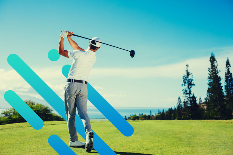 golfer swinging golf club
