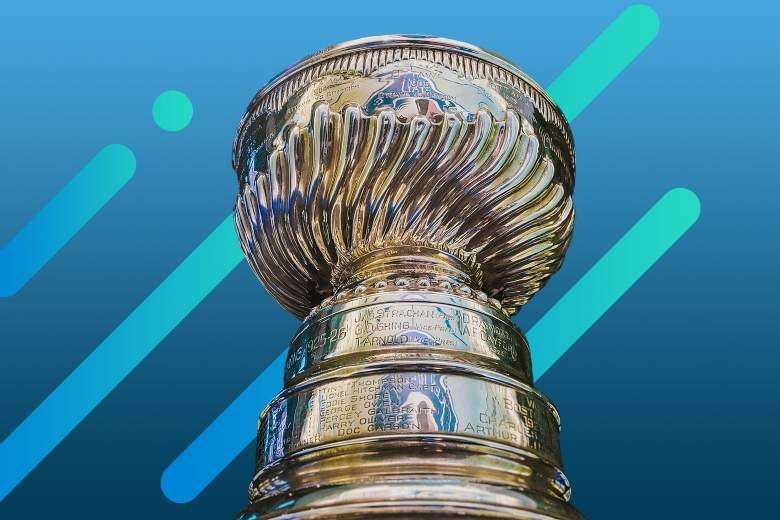 stanley cup trophy with abstract background
