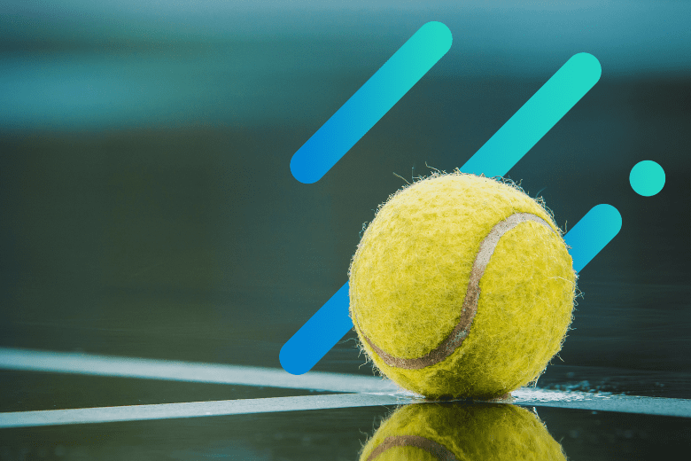 tennis ball with an abstract background