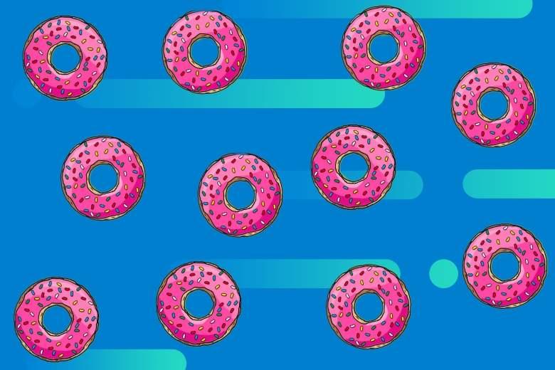 rosquillas y fondo abstracto