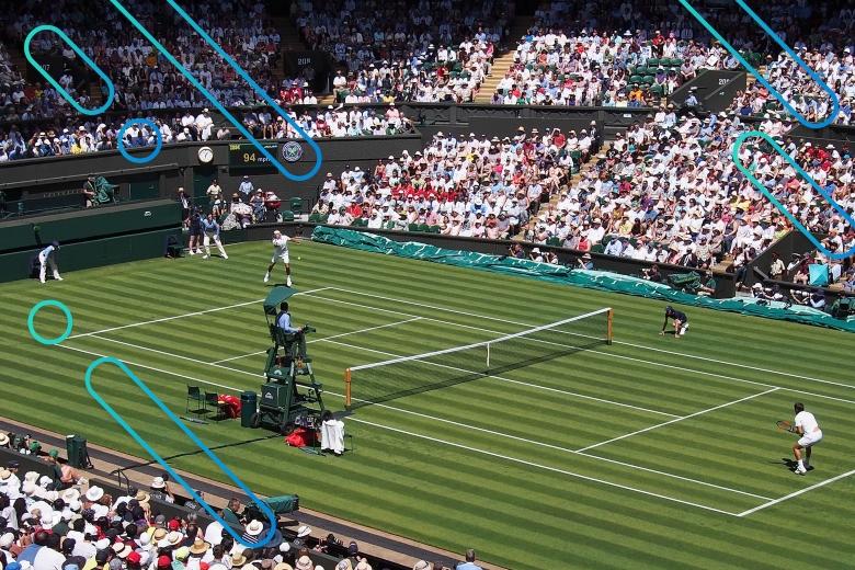 wimbledon tennis match